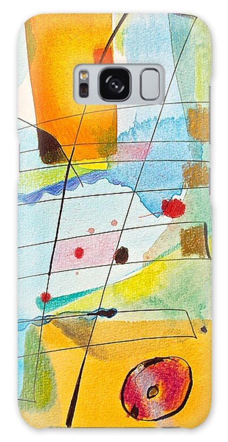 Abstract Galaxy S8 Case featuring the painting Elevations by Joseph Litzinger