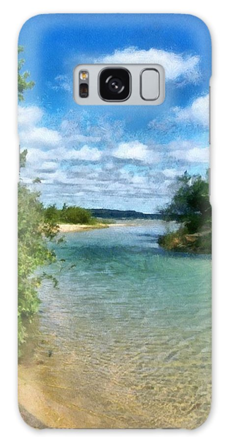 Elk Rapids Galaxy S8 Case featuring the photograph Elk River- Elk Rapids Michigan by Michelle Calkins