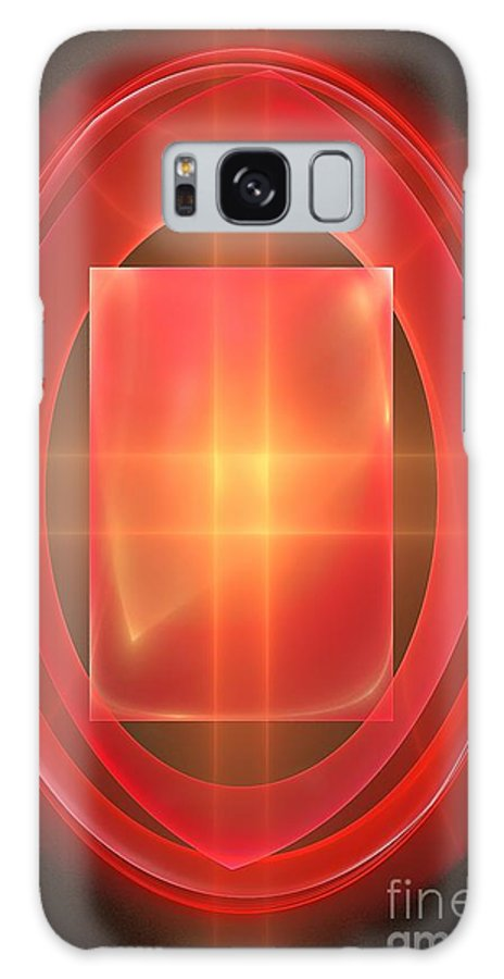 Wheels Galaxy S8 Case featuring the digital art Ellipse 125-02-13 Marucii by Marek Lutek