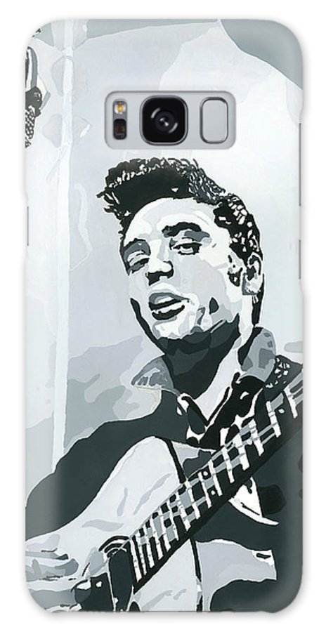 Elvis Presley Galaxy S8 Case featuring the painting Elvis At Sun by Suzanne Gee