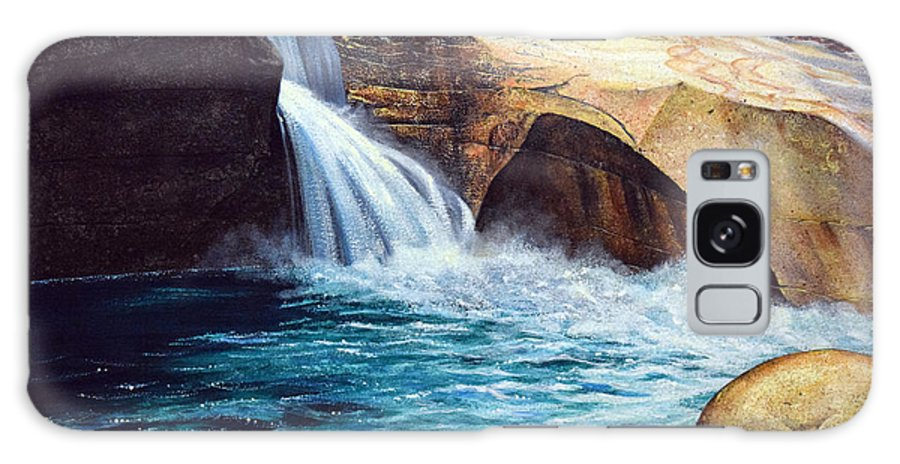 Emerald Pool Galaxy S8 Case featuring the painting Emerald Pool by Frank Wilson