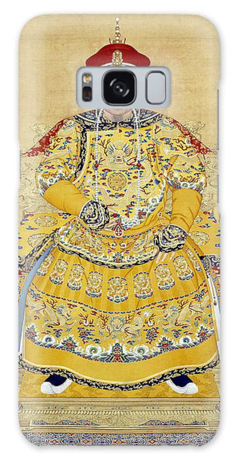 Qianlong Galaxy S8 Case featuring the photograph Emperor Qianlong In Old Age by Chinese School