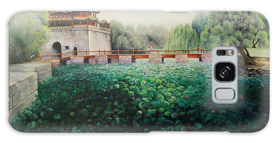 Landscape Galaxy S8 Case featuring the painting Emperor's Summer Palace by Marlene Book