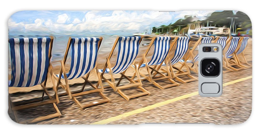 Deckchairs Galaxy Case featuring the photograph Empty deckchairs at Southend on Sea by Sheila Smart Fine Art Photography