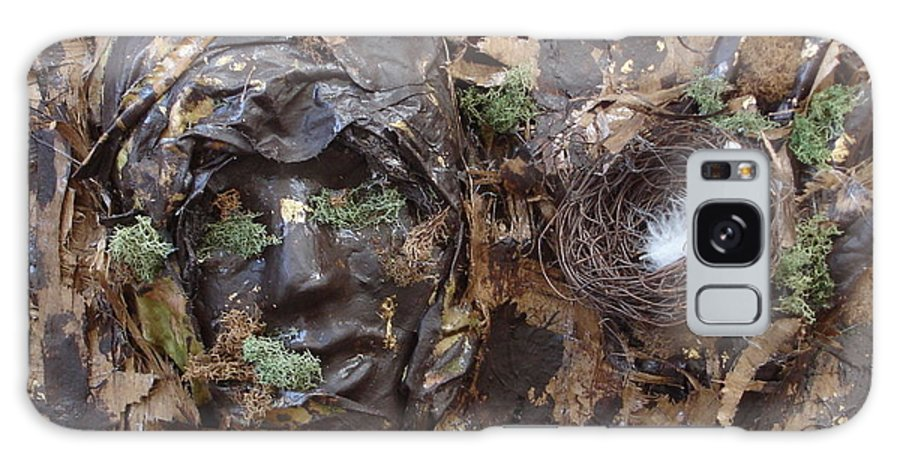 Empty Nest Galaxy S8 Case featuring the mixed media Empty Nest Always Welcome by Shelley Jones