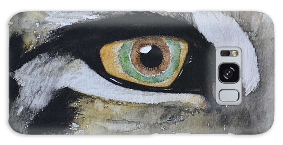 Eye Galaxy S8 Case featuring the painting Endangered Eye I by Suzette Kallen