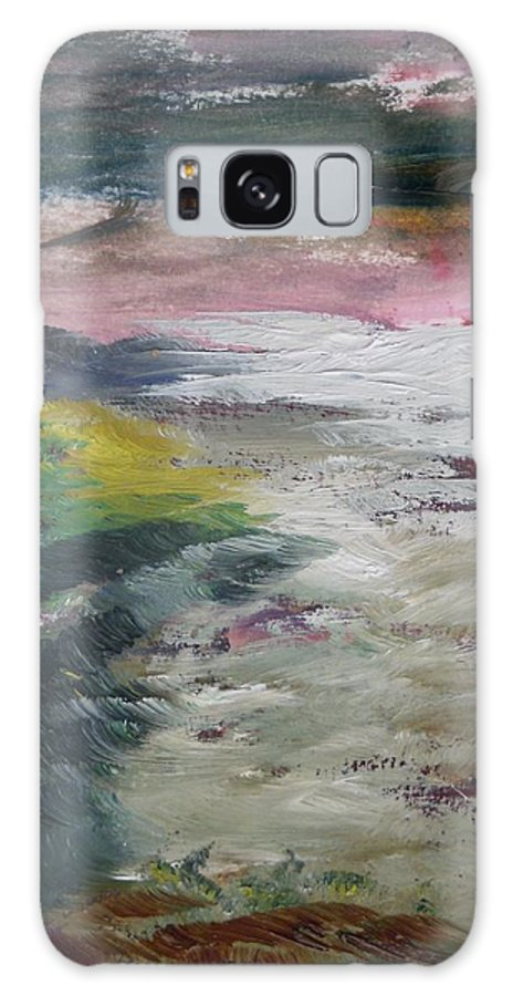Sea Galaxy S8 Case featuring the painting Ending Light Of Day by Edward Wolverton
