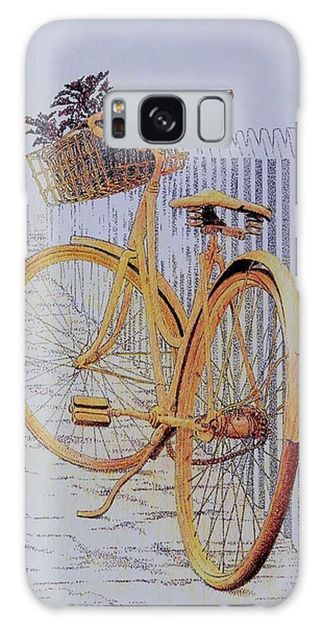 Bicycle Yellow Summer Flowers Plants Galaxy S8 Case featuring the painting Endless Summer by Tony Ruggiero