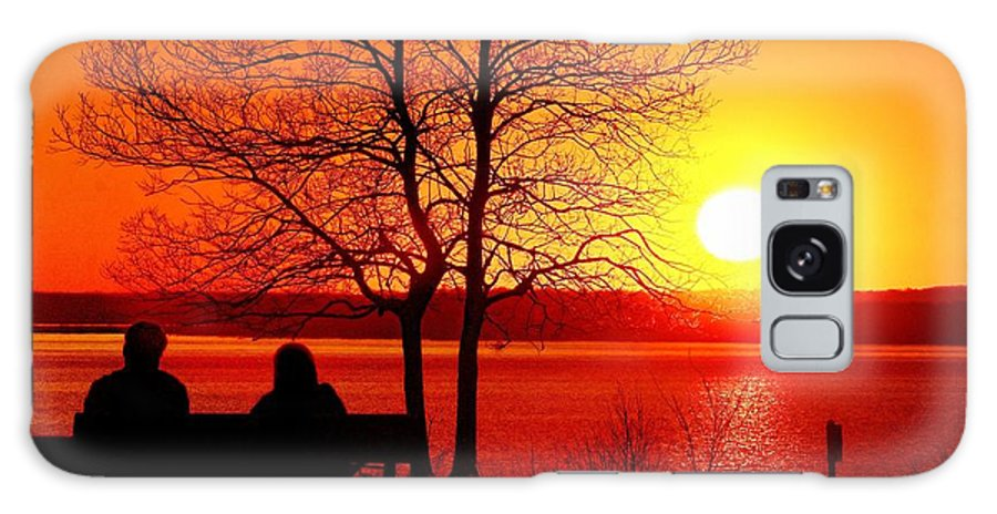 Sunset Galaxy S8 Case featuring the photograph Enjoying The Sunset by Nick Zelinsky