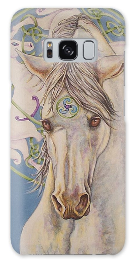 Celtic Galaxy Case featuring the painting Epona The Great Mare by Beth Clark-McDonal