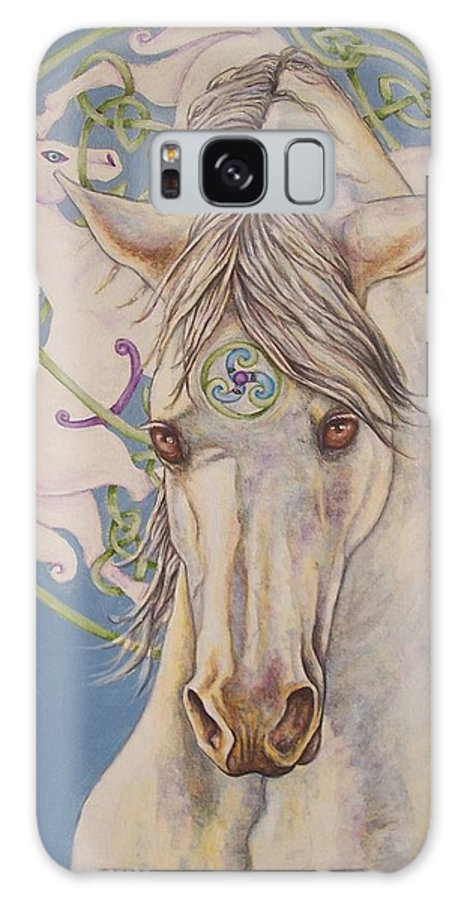 Celtic Galaxy S8 Case featuring the painting Epona The Great Mare by Beth Clark-McDonal