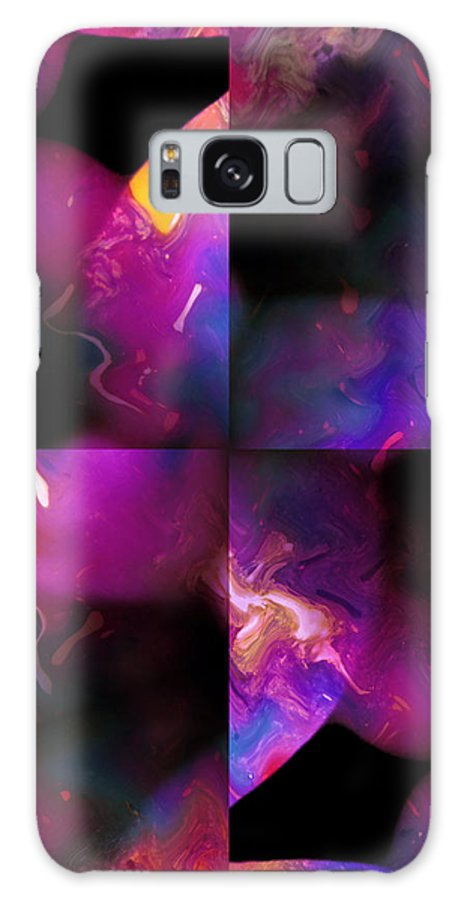 Woman Women Nude Naked Boobs Tits Breast Color Colorful Abstract Impressionism Expressionism Digital Art Two Arms Hand Body Scape Female Erotic Sex Sexual Galaxy S8 Case featuring the digital art Erotic Forms by Steve K