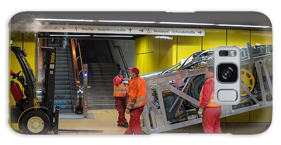 Escalator Galaxy S8 Case featuring the photograph Escalator Construction Works by Frank Gaertner