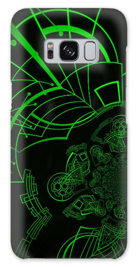 Matrix Galaxy S8 Case featuring the digital art Escaping The Matrix by Absinthe Art By Michelle LeAnn Scott