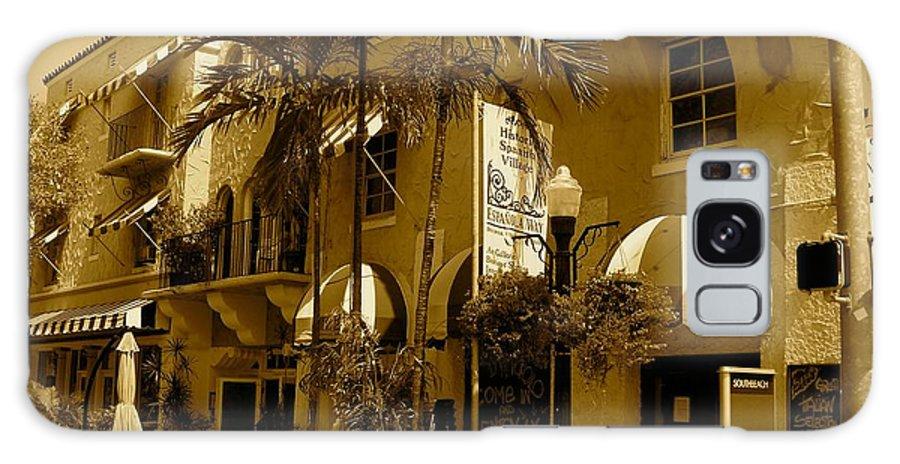 Espanola Way Miami Print Galaxy S8 Case featuring the photograph Espanola Way In Miami South Beach by Monique's Fine Art