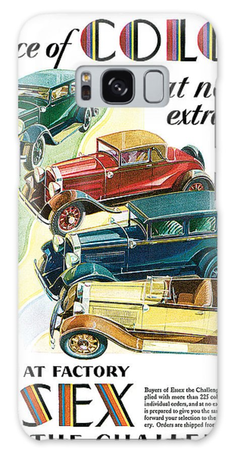 '30's Galaxy S8 Case featuring the drawing Essex Challenger Vintage Poster by World Art Prints And Designs