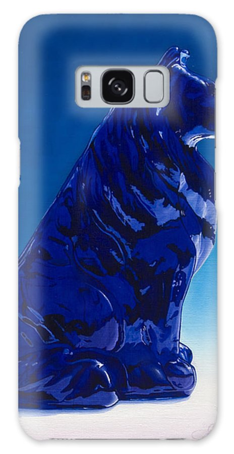 Blue Dog Galaxy Case featuring the painting Eternally Blue by Gary Hernandez