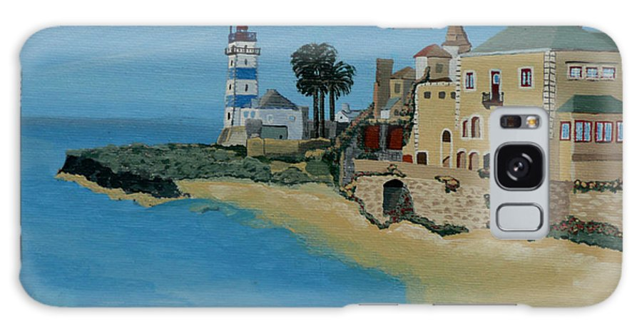 Lighthouse Galaxy S8 Case featuring the painting European Lighthouse by Anthony Dunphy