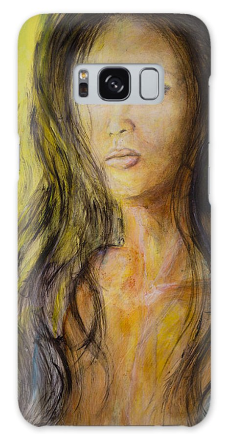 Eve Galaxy S8 Case featuring the painting Eve Portrait by Nik Helbig