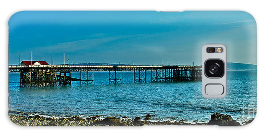 Mumbles Pier Galaxy S8 Case featuring the photograph Evening At Mumbles Pier by Eben Photoart