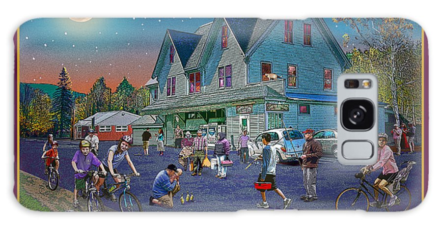 Fishing Galaxy S8 Case featuring the digital art Evening In Campton Village by Nancy Griswold