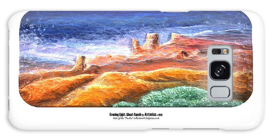 Relief Galaxy S8 Case featuring the painting Evening Light Ghost Ranch by ArSpirare by Antonius