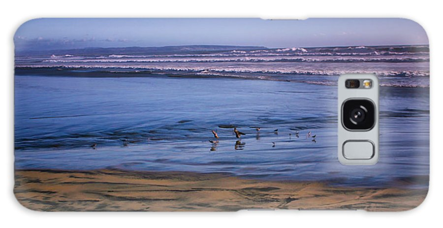 Beach Galaxy S8 Case featuring the digital art Evening Peace On Coronado Beach by Georgianne Giese
