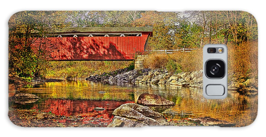 Landscape Galaxy S8 Case featuring the photograph Everett Road Bridge Aged by Marcia Colelli