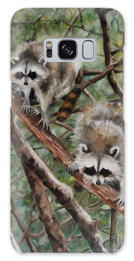 Landscape Galaxy S8 Case featuring the painting Everglade Babies by Karen Olson