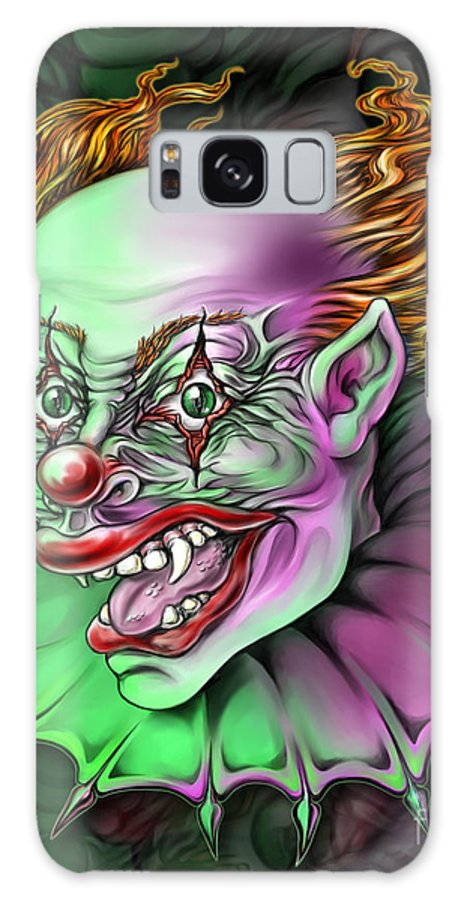 Spano Galaxy S8 Case featuring the painting Evil Clown By Spano by Michael Spano