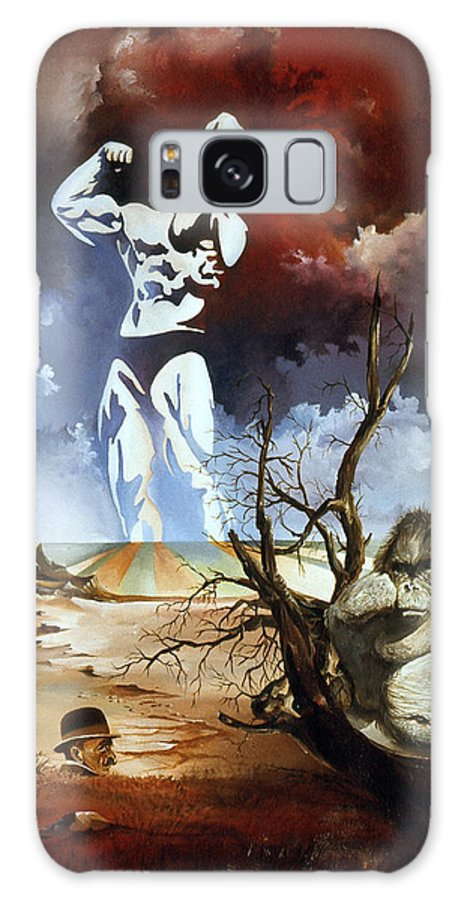 Surrealism Galaxy Case featuring the painting Evolution by Otto Rapp