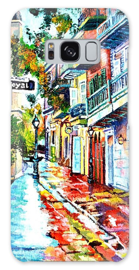 Colorful Galaxy S8 Case featuring the painting Exchange Alley by Lisa Tygier Diamond
