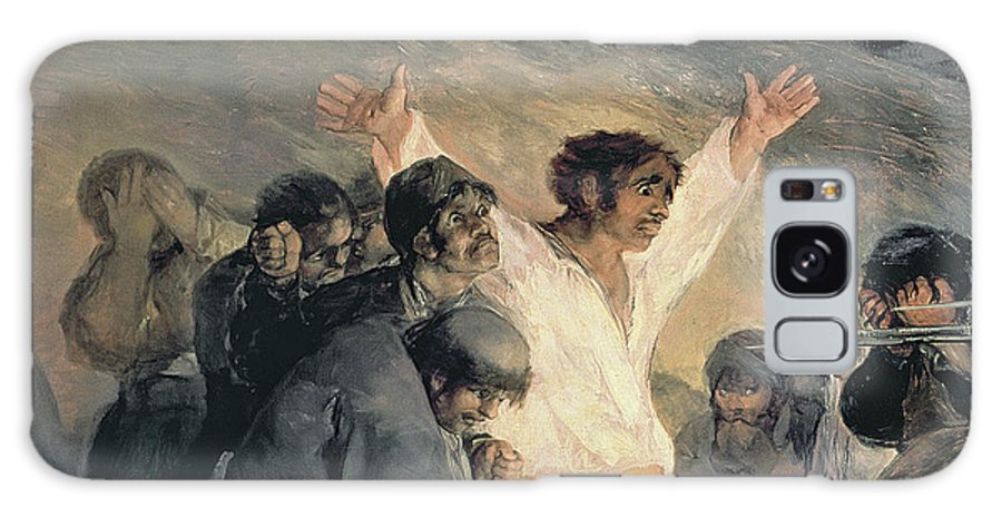 Against Galaxy S8 Case featuring the painting Execution Of The Defenders Of Madrid by Francisco Jose de Goya y Lucientes