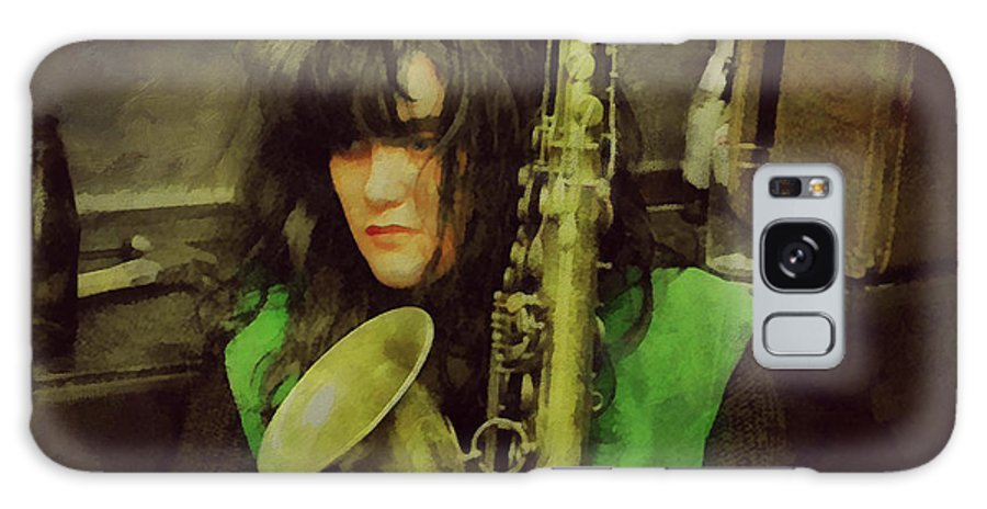 X Galaxy S8 Case featuring the painting Exene by Janice MacLellan