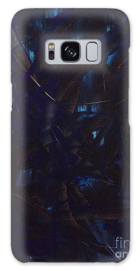 Abstract Galaxy S8 Case featuring the painting Expectations Blue by Dean Triolo