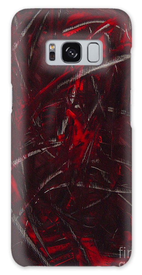 Abstract Galaxy S8 Case featuring the painting Expectations Red by Dean Triolo