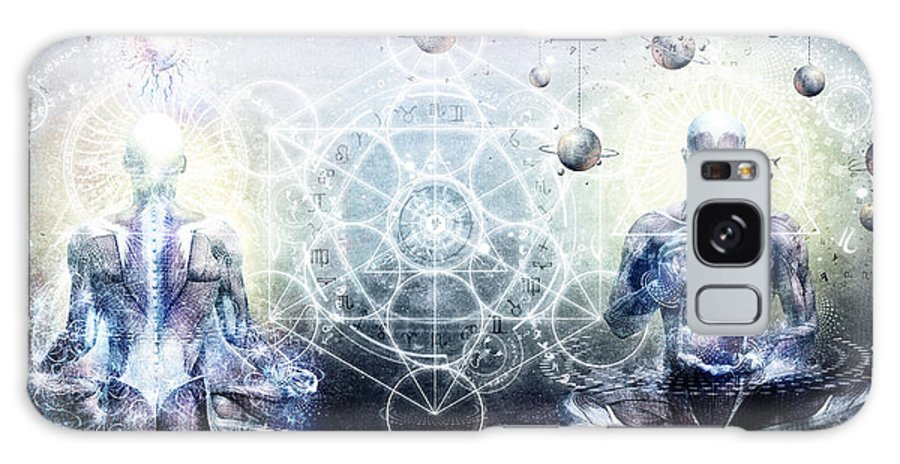 Spiritual Galaxy Case featuring the digital art Experience So Lucid Discovery So Clear by Cameron Gray