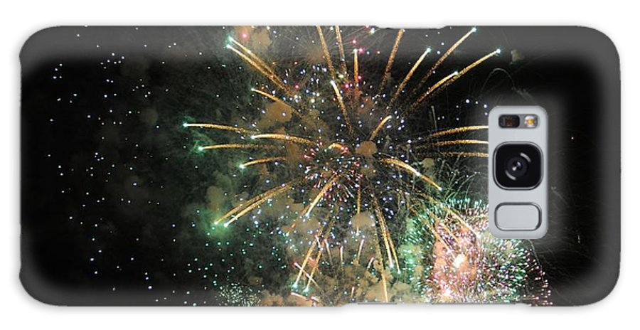 Explosion Galaxy S8 Case featuring the photograph Explosion Of Color On Canada Day by Vivian Christopher