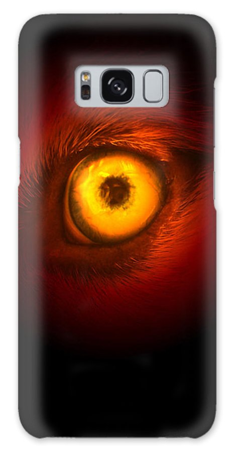 Husky Galaxy S8 Case featuring the digital art Eye Of Fire by Brianna Black