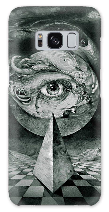 otto Rapp Surrealism Galaxy Case featuring the drawing Eye Of The Dark Star by Otto Rapp