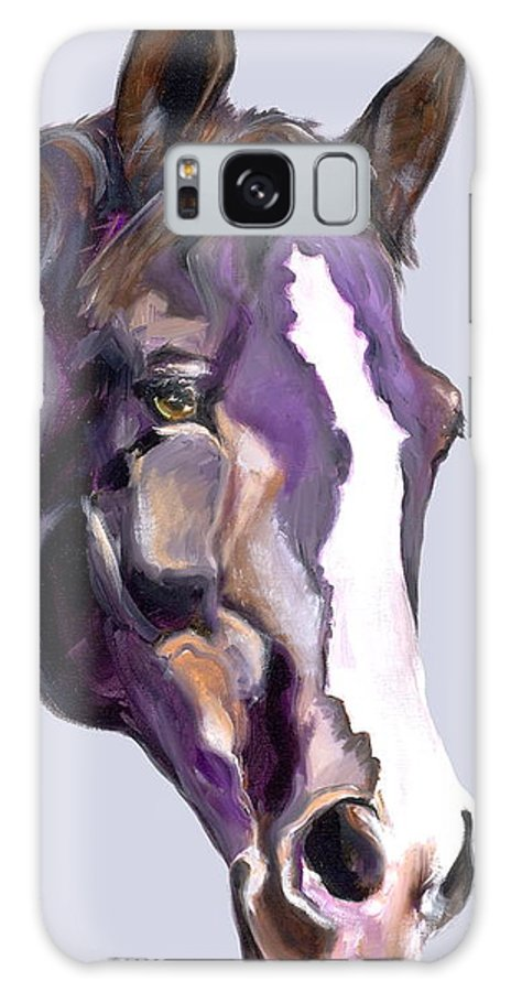 Thoroughbred Galaxy S8 Case featuring the painting Eye On The Prize by Susan A Becker