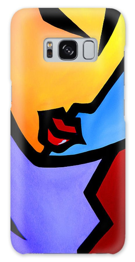 Pop Art Galaxy S8 Case featuring the painting Eye On You By Fidostudio by Tom Fedro - Fidostudio