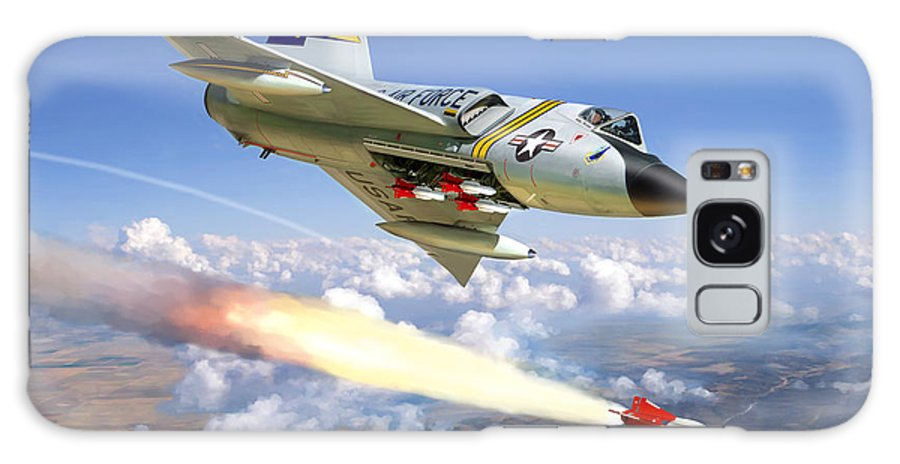 Aviation Galaxy S8 Case featuring the painting F-106 Delta Dart 5th Fis by Mark Karvon