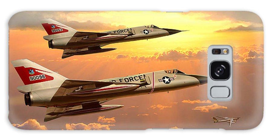 Aviation Galaxy Case featuring the painting F-106 Delta dart Intercept by Mark Karvon