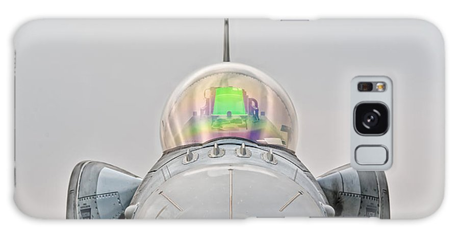 F-16 Galaxy S8 Case featuring the photograph F-16 En Face by Marta Holka