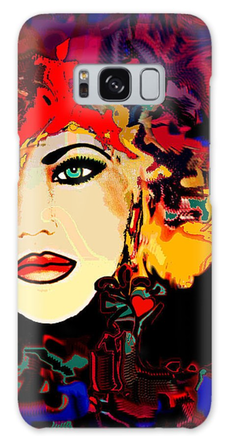 Face Galaxy S8 Case featuring the mixed media Face 14 by Natalie Holland