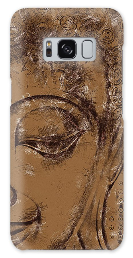 Face Galaxy S8 Case featuring the digital art Face Chalk Sketch by David Lange