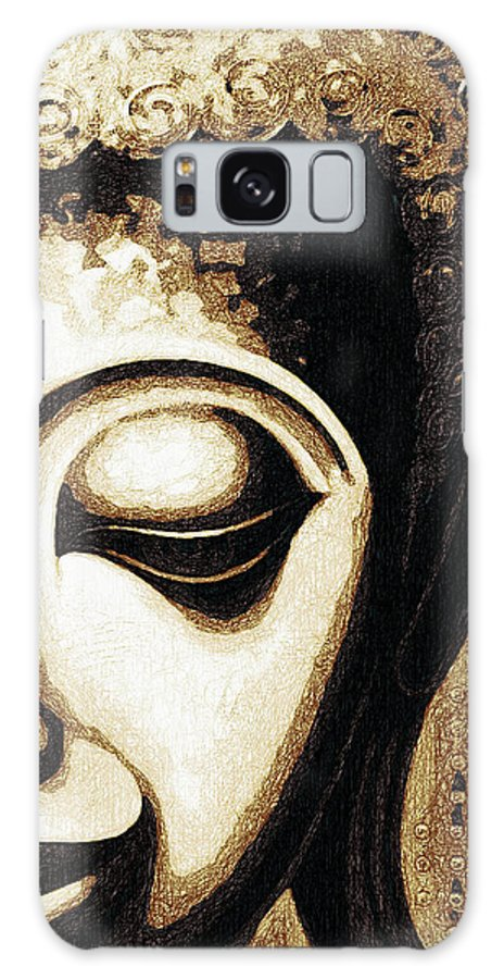 Face Galaxy S8 Case featuring the digital art Face Color Lino by David Lange
