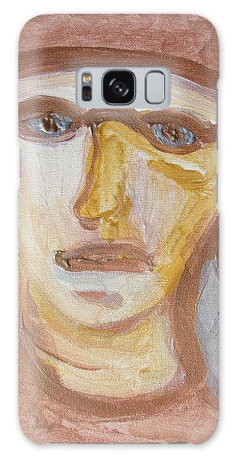 Face Galaxy S8 Case featuring the painting Face Five by Shea Holliman