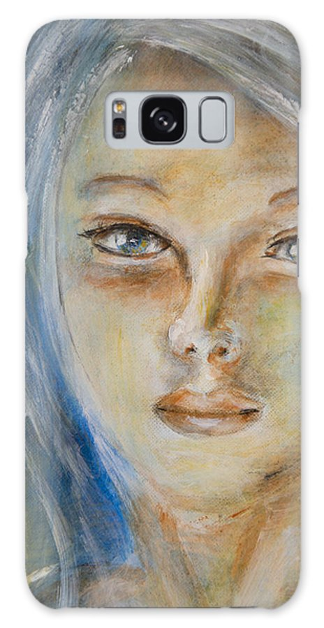 Angel Face Galaxy S8 Case featuring the painting Face Of An Angel by Nik Helbig